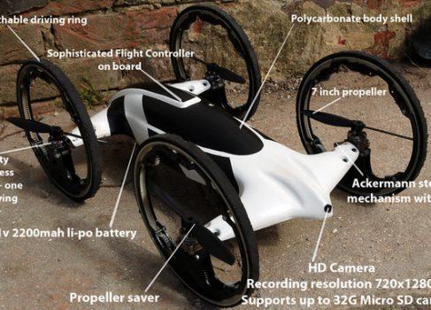 Quadracopter: и по воздуху и по земле