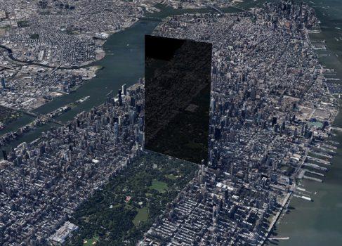 Как выглядел бы гигантский iPhone поставь его в Нью-Йорке