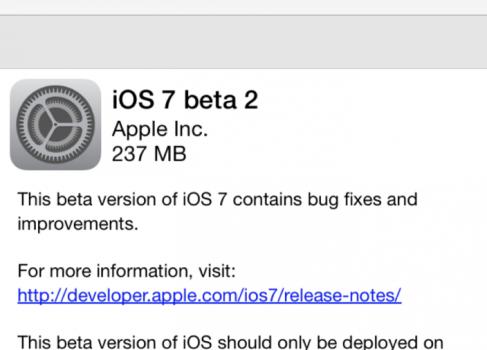 Apple выпустила вторую бету iOS 7 — теперь с поддержкой iPad