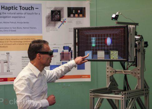 Microsoft представила сенсорный 3D-дисплей с тактильной отдачей