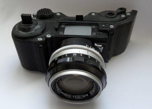 SLR фотокамеру распечатали на 3D принтере