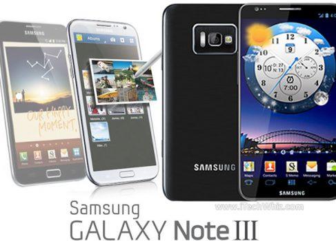 В сеть попали спецификации Samsung Galaxy Note III с 3Gb оперативной памяти
