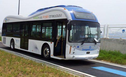 В Южной Корее запустили электроавтобусы с беспроводной подзарядкой