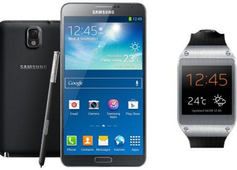 Смартфон Samsung Galaxy Note 3 и часы Galaxy Gear представлены в России