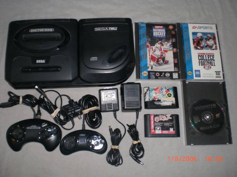 Sega-CD-Sega-Genesis-System-+Game