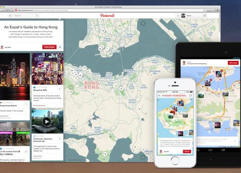 Pinterest помогает пользователям планировать путешествия