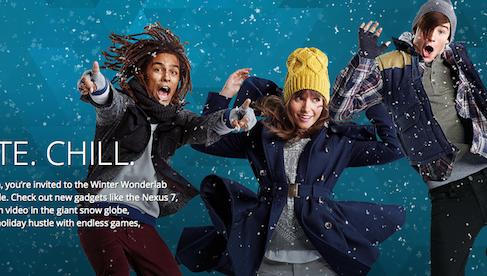 Google встречает зиму интерактивными  лабораториями чудес