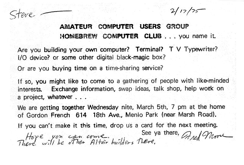 Invitation_to_First_Homebrew_Computer_Club_meeting