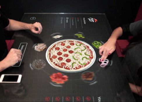 Pizza Hut представила концепцию электронного стола-меню