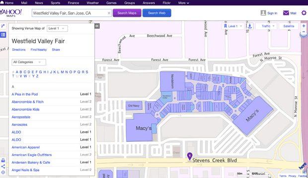 Yahoo добавила indoor навигацию используя Nokia Here